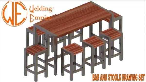 Bar Table & Stools Plans