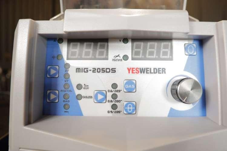 Yeswelder MIG 205DS control Panel